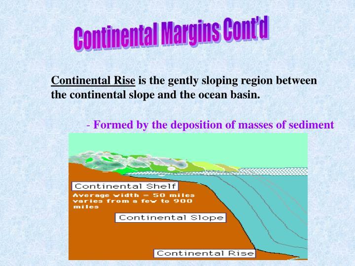 Continental Margins Cont'd