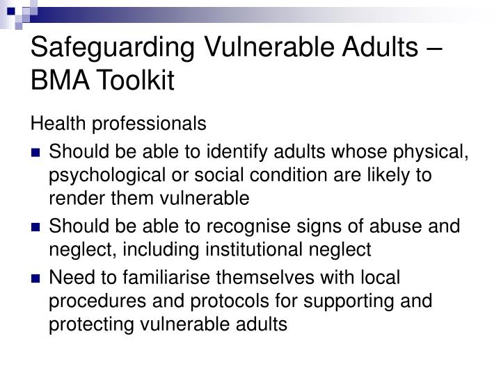 safeguarding and protection of vulnerable adults 2 essay The care act 2014 - local authorities have new duties for safeguarding  vulnerable adults including lead a multi-agency local adult safeguarding system,  find out.