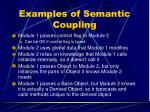 examples of semantic coupling