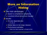 more on information hiding