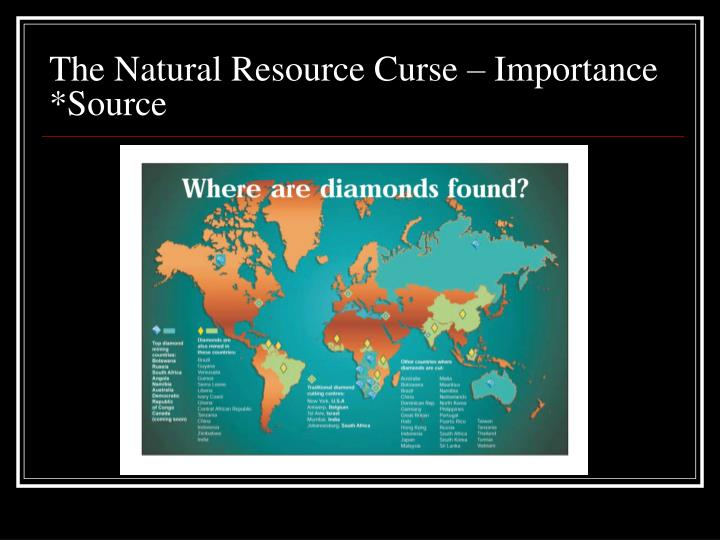 The Natural Resource Curse – Importance *Source
