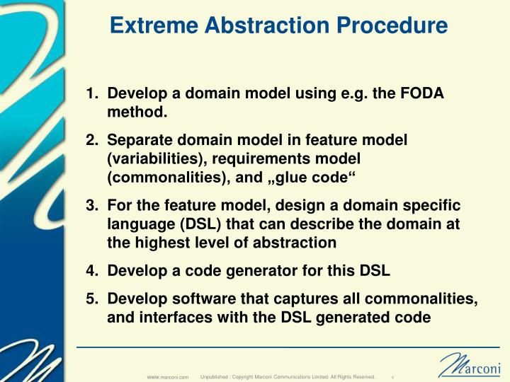 Extreme Abstraction Procedure