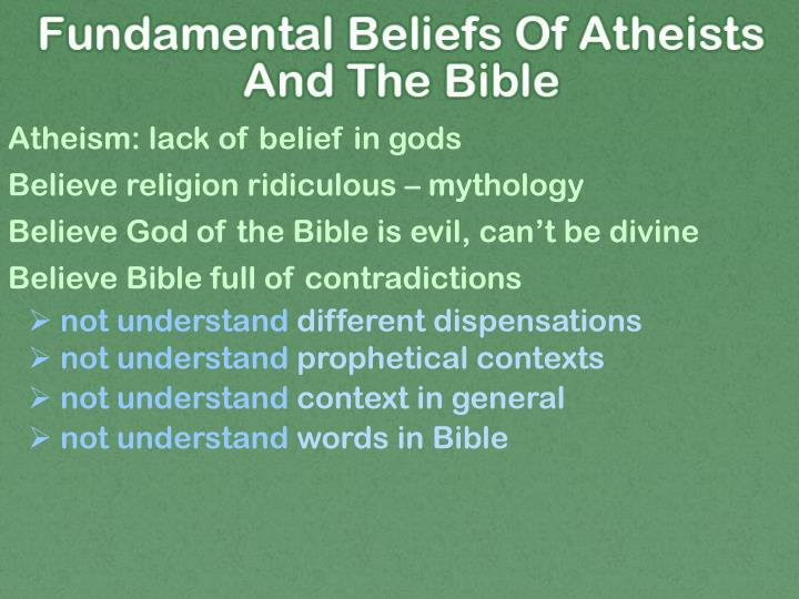 Atheism: lack of belief in gods