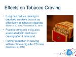 effects on tobacco craving
