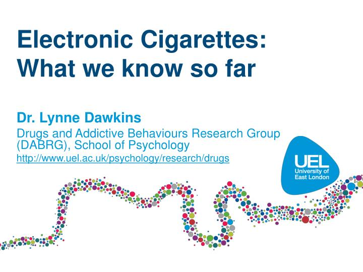 electronic cigarettes what we know so far