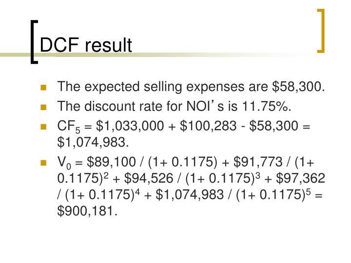 DCF result