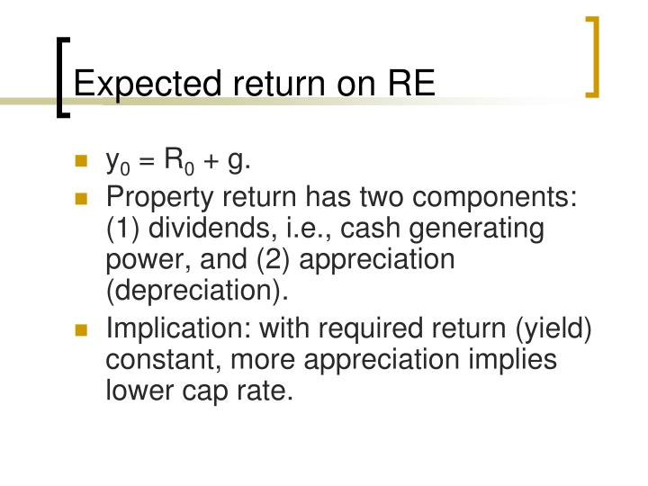 Expected return on RE