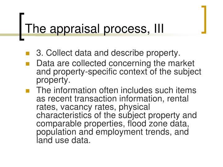 The appraisal process, III