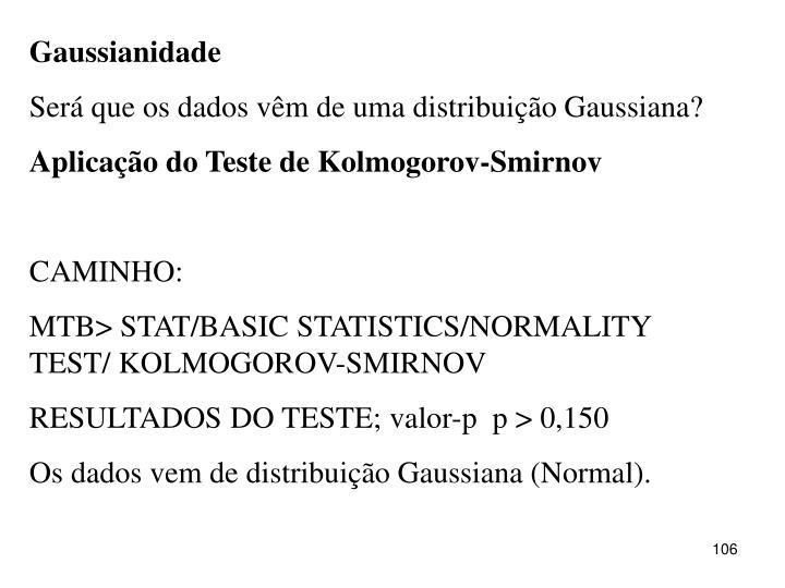 Gaussianidade