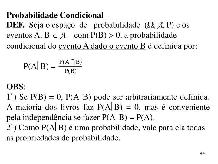 Probabilidade Condicional
