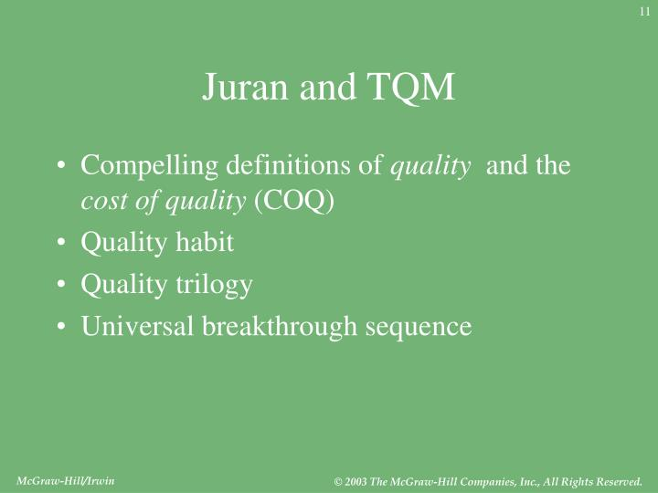 juran trilogy in tqm