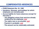 compensated absences
