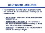 contingent liabilities1