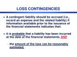 loss contingencies