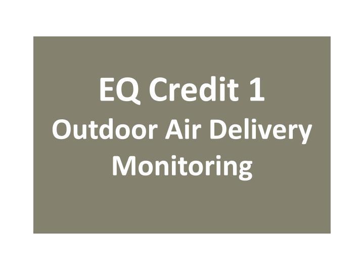 EQ Credit 1