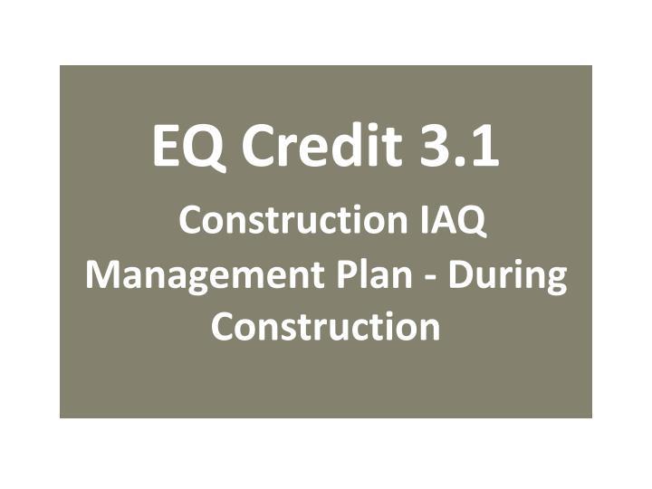 EQ Credit 3.1