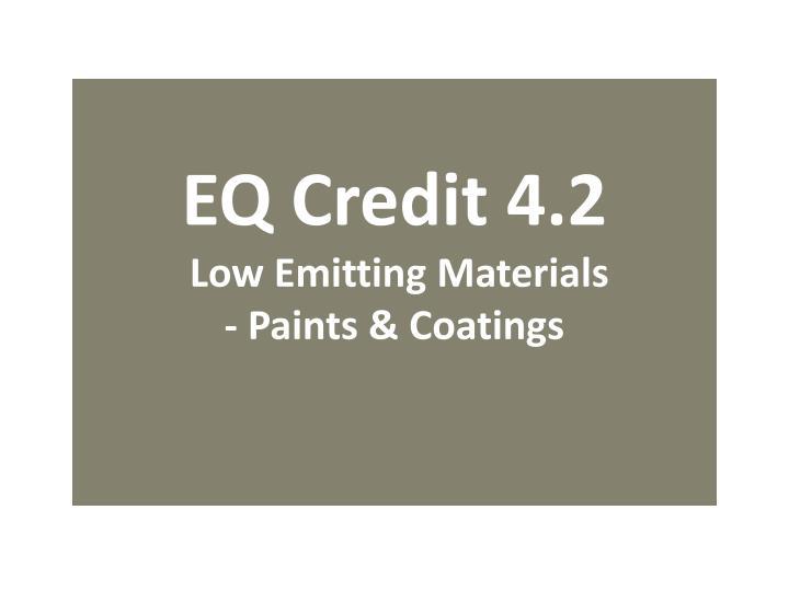 EQ Credit 4.2