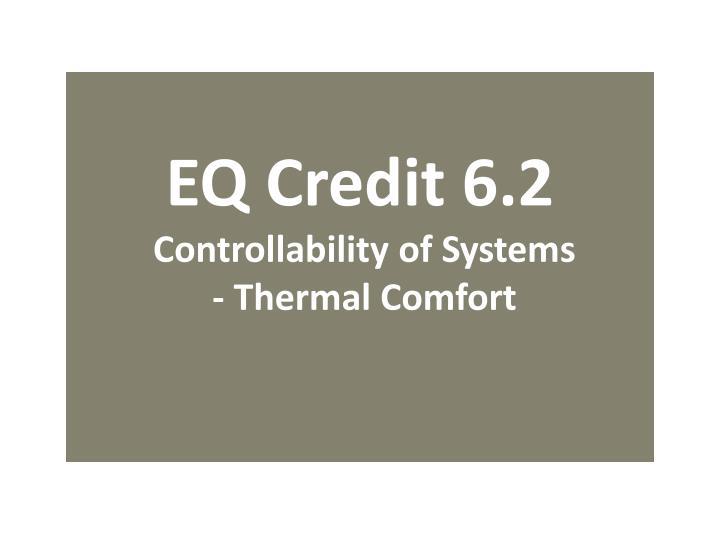 EQ Credit 6.2