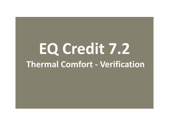 EQ Credit 7.2