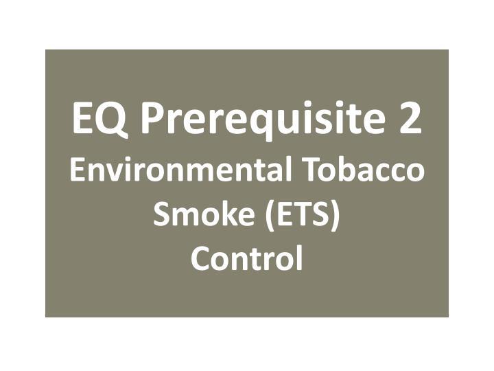 EQ Prerequisite 2