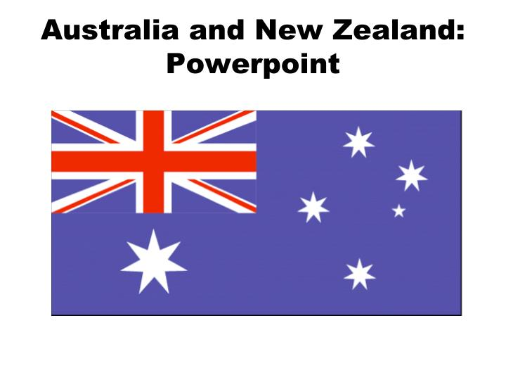 australia and new zealand powerpoint n.