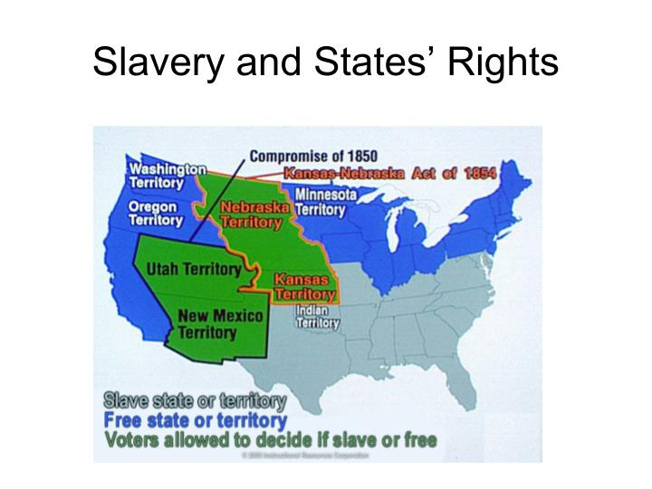 slavery and states rights The war was fought over state's rights and the limits of federal power in a union of states the perceived threat to state autonomy became an existential one through the specific dispute over slavery.
