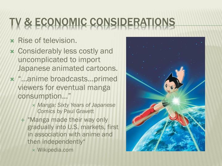 TV & Economic considerations
