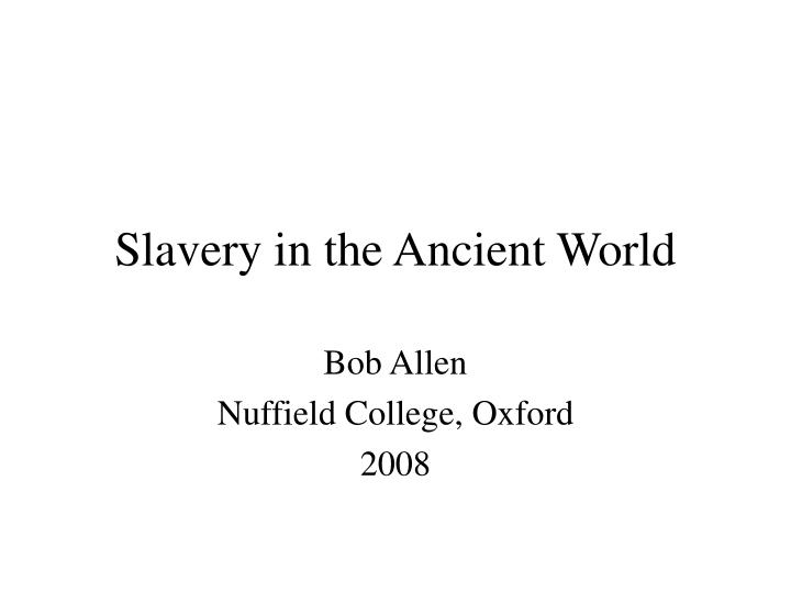 slavery in the ancient world n.