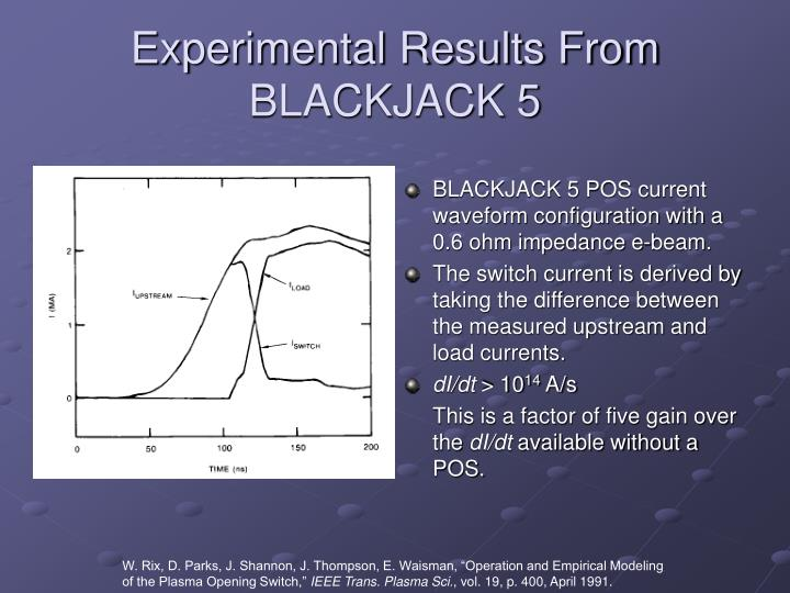 Experimental Results From BLACKJACK 5