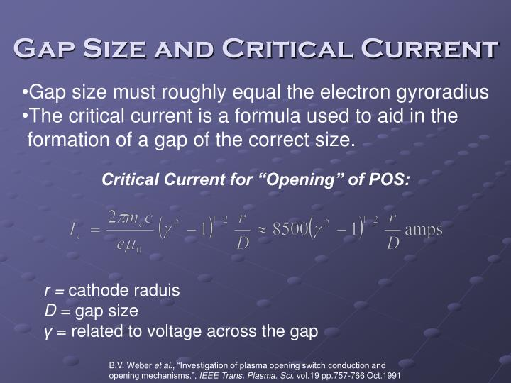 Gap Size and Critical Current