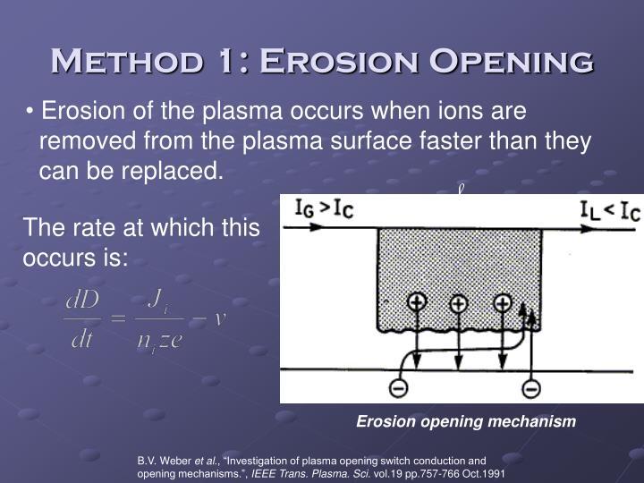 Method 1: Erosion Opening