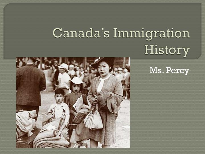a historical overview of immigration into canada An overview of immigration to australia from 1788 to present day this video gives a brief timeline and background to today's political arguments about asylum seekers and immigration.
