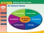 six general values1