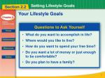 your lifestyle goals1