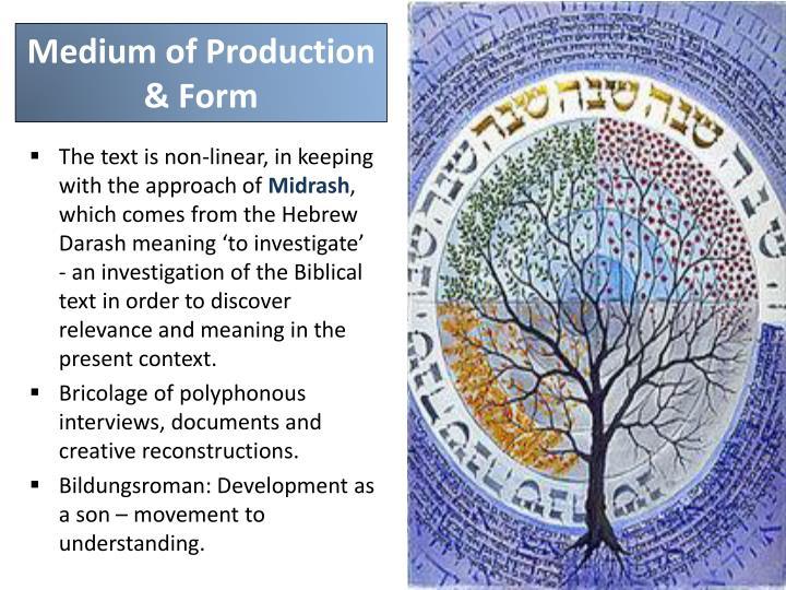 Medium of Production & Form