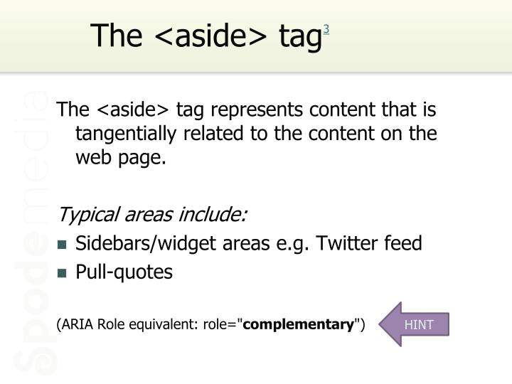 The <aside> tag