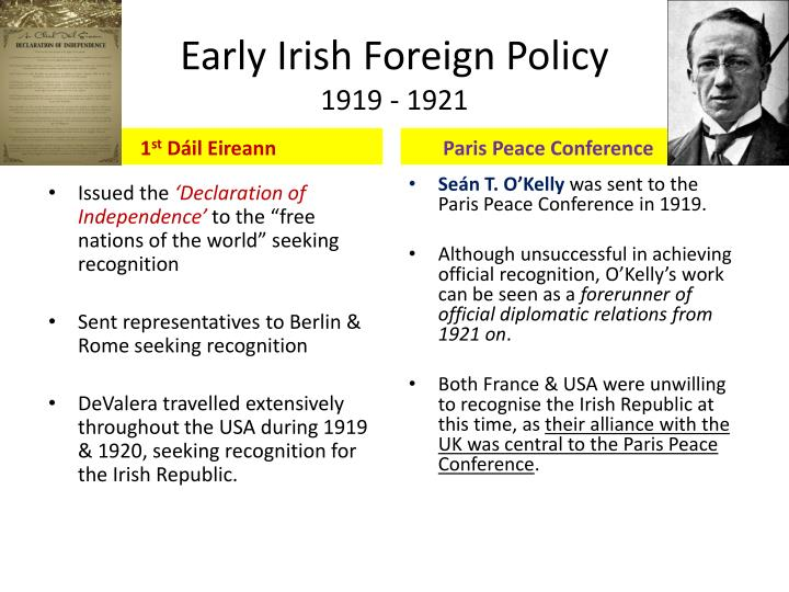 Early irish foreign policy 1919 1921