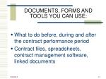 documents forms and tools you can use