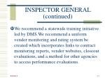 inspector general continued1