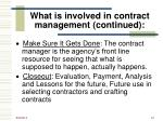 what is involved in contract management continued2