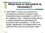 what kind of document is necessary