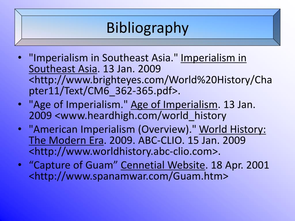 PPT - Imperialism in Southeast Asia and the Pacific Islands