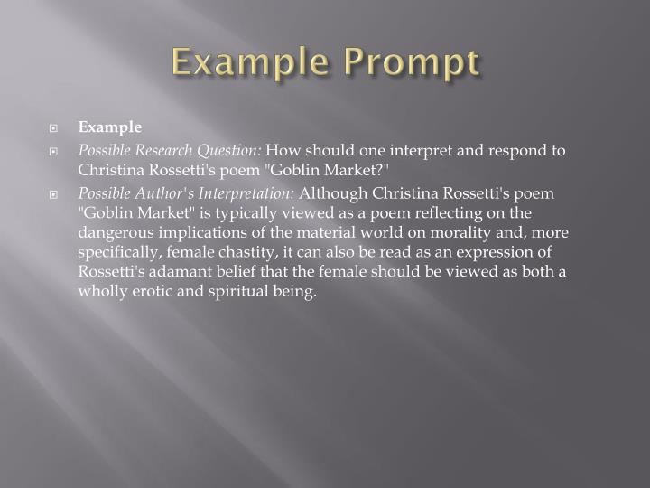 Example Prompt