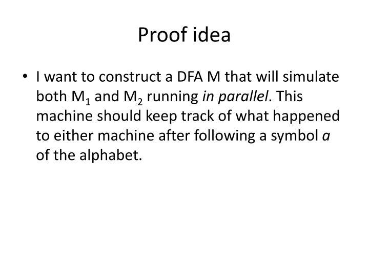 Proof idea