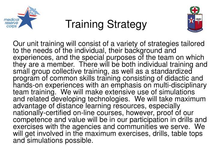 Training strategy