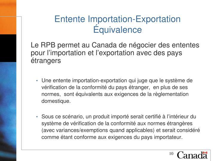 Entente Importation-Exportation
