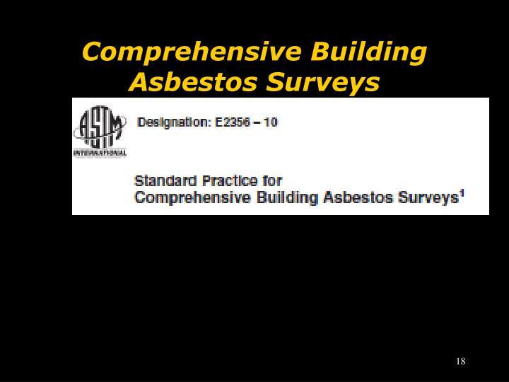 Comprehensive Building Asbestos Surveys