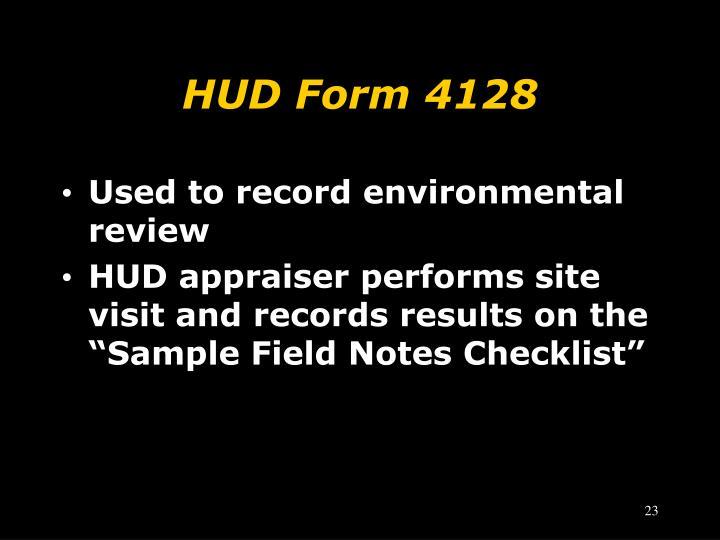 HUD Form 4128