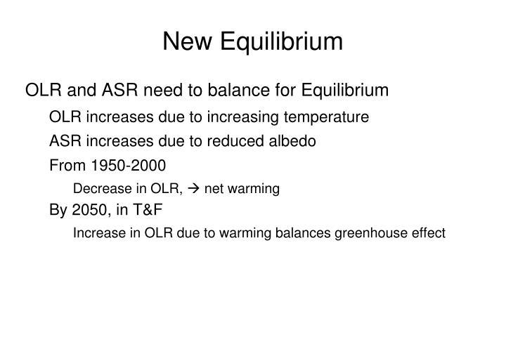 New Equilibrium
