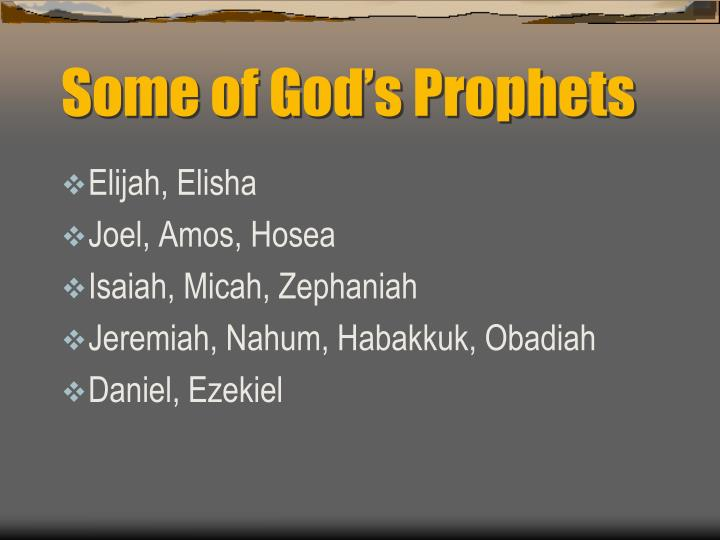 Some of god s prophets
